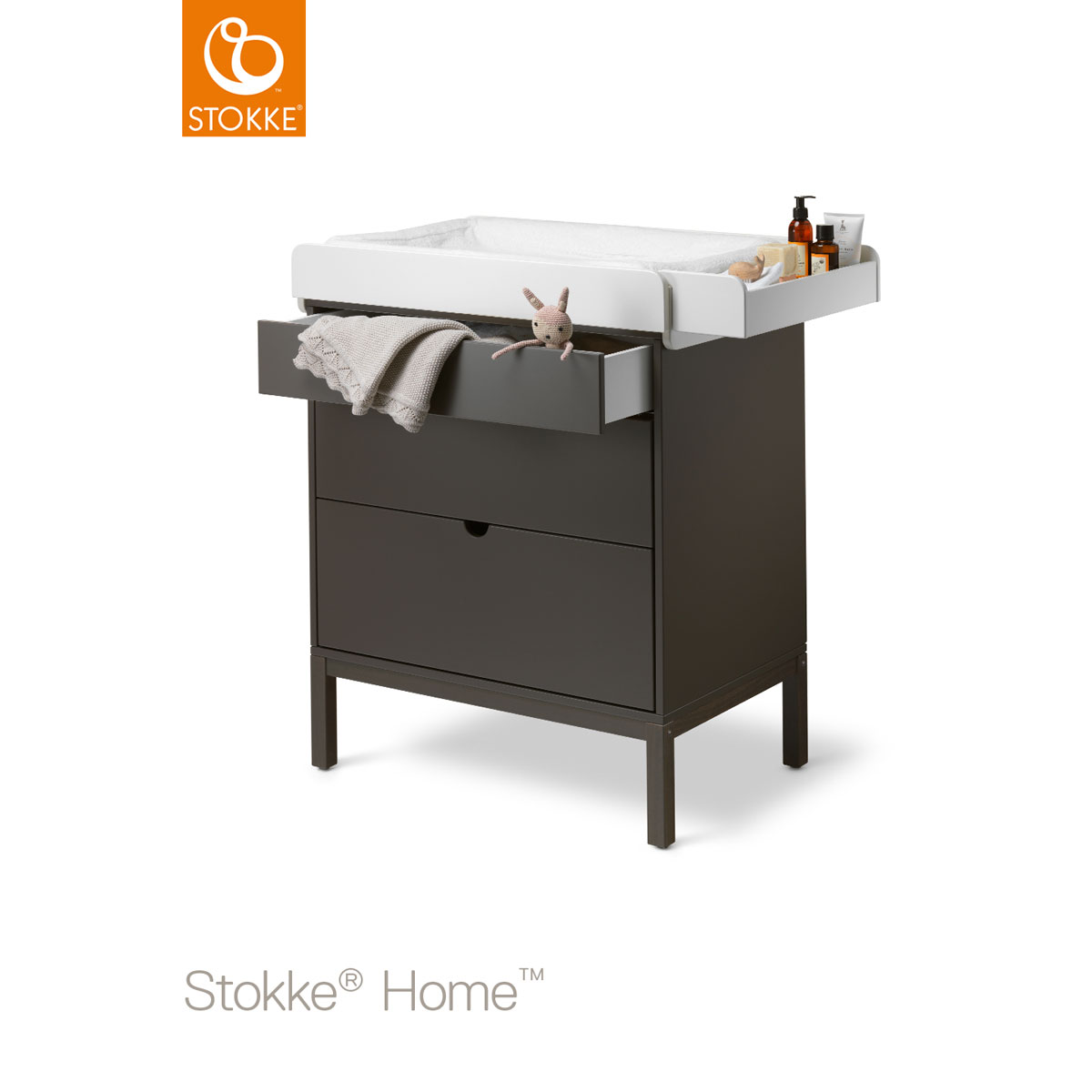 Stokke home bed, commode & wieg hazy grey