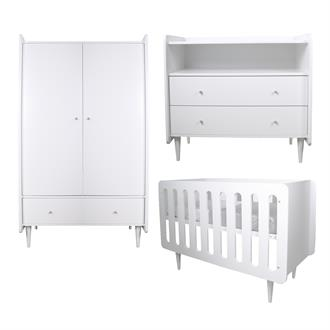Babykamer Lucy KC Exclusief (wit, 3-delig)