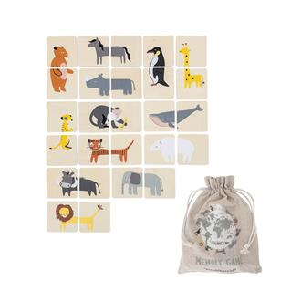 Bloomingville Memory Game 'Zoo' - Set van 26