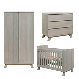 Bopita babykamer Pebble Wood (3-delig)
