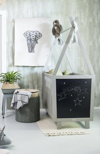 Coming Kids Babykamer Framed green grey