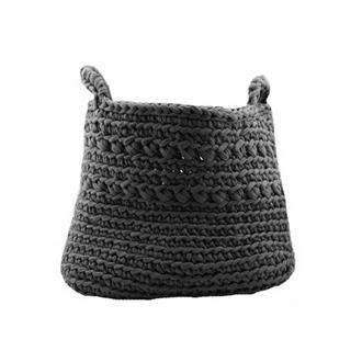 Crochet storage bag oval size