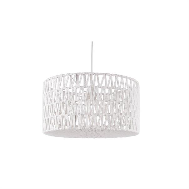 Hanglamp 'Paper Rope' Rond - Wit D. Ø39CM