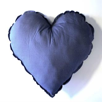 Heart cushion print 100 % cott