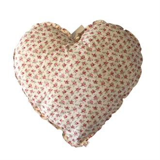 Heart Cushion Print 100 % Cotton 45 CM