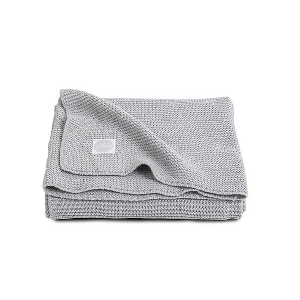Jollein Ledikantdeken 'Soft Knit' - Light Grey