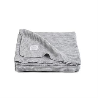 Jollein Wiegdeken 'Basic Knit'- Light Grey