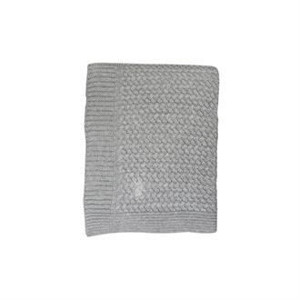 Ledikantdeken 'Soft Knitted' Soft Grey - 110 x 140