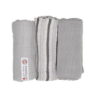 Lodger HydrofieleDoek 3pack Swaddler Empire Stripe