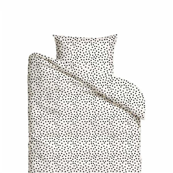 Mies & Co Junior Dekbedovertrek 'Cozy Dots' Offwhi