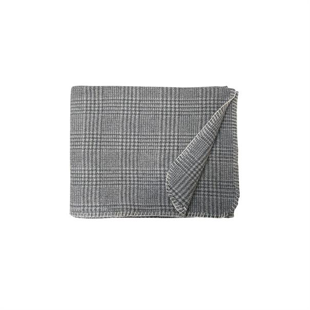 Plaid Pieddepoule 130 x 170 Antraciet / Off White