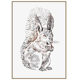 Sparkling paper Poster squirrel a3 formaat 297