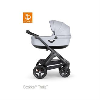 Stokke Trailz Black frame - Black leatherette - Grey melange - Terrain wheels