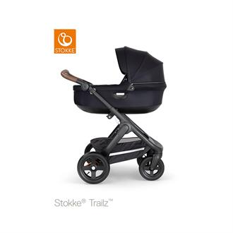 Stokke Trailz Black frame - Brown leatherette - Black - Terrain