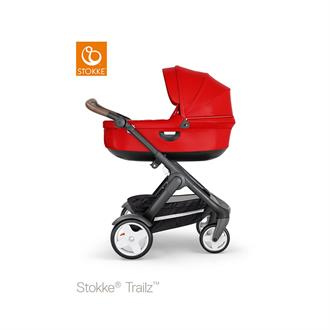 Stokke Trailz  Black frame - Brown leatherette - Red - Classic