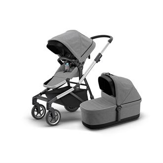 Thule Sleek Kinderwagen + Reiswieg - Grey Melange